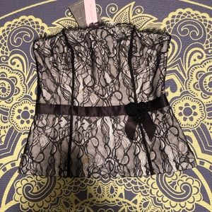 Ann Taylor Lace Strapless Corset Top (make offer!)